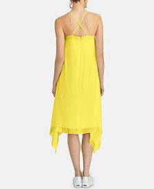 RACHEL Rachel Roy Maddelena Sleeveless Handkerchief-Hem Dress