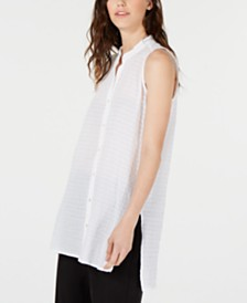 Eileen Fisher Organic Cotton Sleeveless Blouse, Regular & Petite