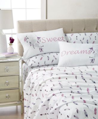 Expressions 4-Pc. Wrinkle-Free Printed Twin Sheet Set