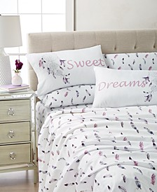 Expressions 6-Pc. Wrinkle-Free Printed Queen Sheet Set