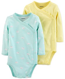 Baby Girls 2-Pack Side-Snap Printed Cotton Bodysuits
