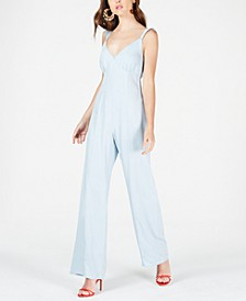Ruffled Bow-Back Jumpsuit