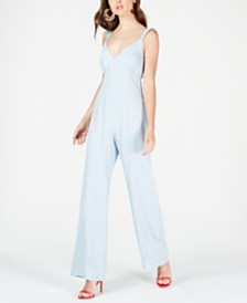 GUESS Ruffled Bow-Back Jumpsuit
