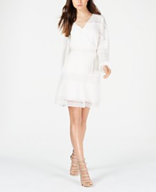 GUESS Deana Crochet-Trim Peasant Dress