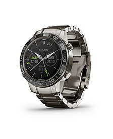 Mens Marq Aviator Stainless Titanium Strap Smart Watch, 46mm