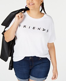 Love Tribe Trendy Plus Size Friends Graphic-Print T-Shirt