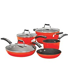 The Rock Red 8-Piece Cook Set