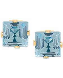 Blue Topaz Stud Earrings (1-3/8 ct. t.w.) in 14k Gold