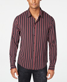 GUESS Men's Rogan Newhaven Stripe Shirt