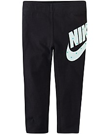 Nike Little Girls Futura Skinny-Fit Stretch Star Logo-Print Leggings