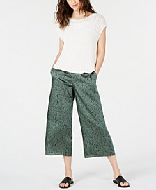 Mesh Top & Cropped Pants, Regular & Petite