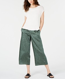 Eileen Fisher Mesh Top & Cropped Pants, Regular & Petite