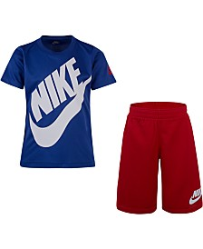 Nike Little Boys 2-Pc. Futura Dri-FIT Logo T-Shirt & Mesh Running Shorts Set