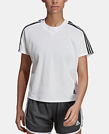 adidas 3-Stripe Cropped T-Shirt