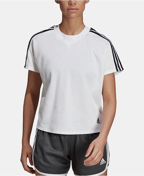 adidas 3-Stripe Cropped T-Shirt