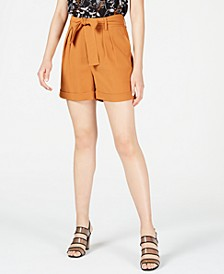 Crepe Belted Shorts, Created for Macy's