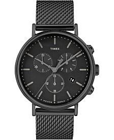 Timex Fairfield Chronograph 41mm Mesh Band Watch