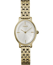 Timex Milano Oval 24mm Stainless Steel Case and Bracelet Watch