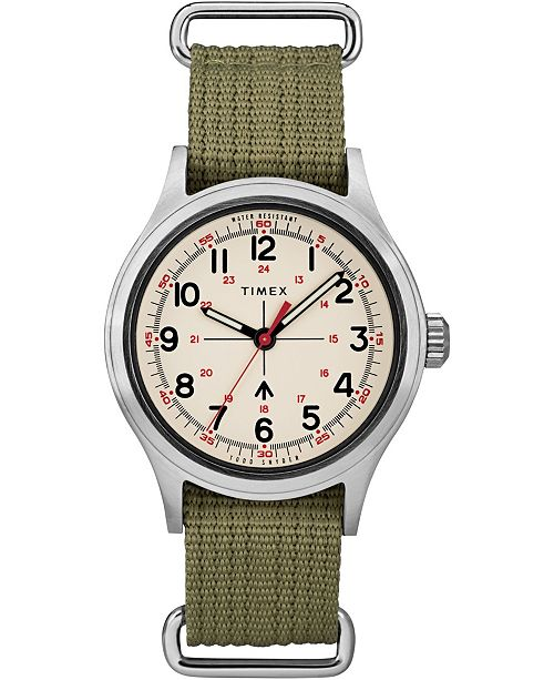 Timex Boutique Timex X Todd Snyder Military Inspired 40mm Fabric Strap Watch