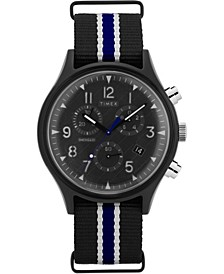 Timex MK1 Supernova™ Chronograph 42mm Black Fabric Strap Watch