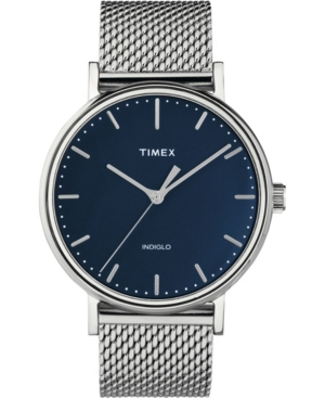 Timex Fairfield 41mm Stainless Steel Mesh Band Watch