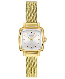 Tissot Women's Swiss T-Lady Lovely Gold-Tone Stainless Steel Mesh Bracelet Watch 20mm