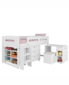 CorLiving Madison 5pc All-in-One Single/Twin Loft Bed
