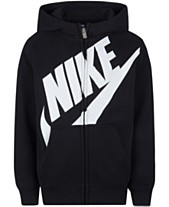f7e44088c Nike Little Boys Futura Modern-Fit French Terry Full-Zip Logo Hoodie