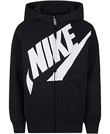 Nike Little Boys Futura Modern-Fit French Terry Full-Zip Logo Hoodie