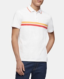 Calvin Klein Men's Tipped Chest Stripe Polo