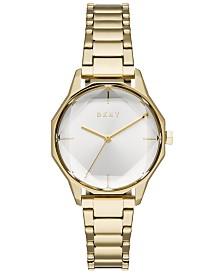 DKNY Women's Cityspire Gold-Tone Stainless Steel Bracelet Watch 34mm