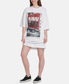 DKNY Cotton Logo-Graphic T-Shirt Dress