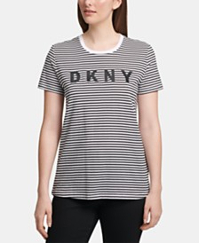 DKNY Logo Striped T-Shirt