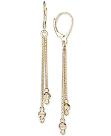 Beaded Drop Earrings in 14k Gold