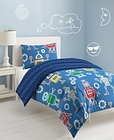Robots & Bits Twin Comforter Set