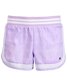 Champion Big Girls Bubble Logo Shorts