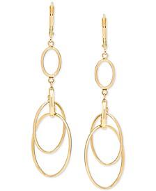 Circular Drop Earrings in 14k Gold