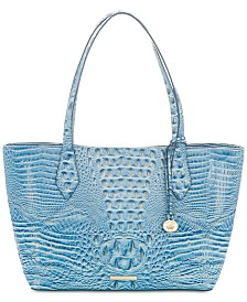 Brahmin Athena Tamarind Melbourne Embossed Leather Tote