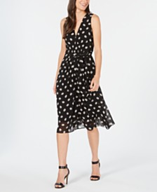 Anne Klein Poet's Leaf Print Dress