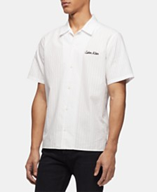 Calvin Klein Men's Logo Stripe Shirt