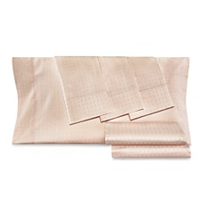 AQ Textiles Dobby Dot 6-Pc Sheet Sets, 1000 Thread Count Cotton Blend