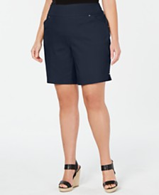 I.N.C. Plus Size Stretch Bermuda Shorts, Created for Macy's