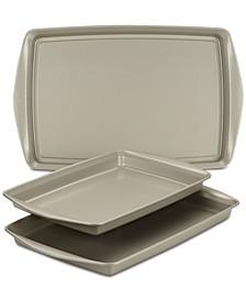 Nonstick Bakeware 3-Pc. Cookie Pan Set, Silver
