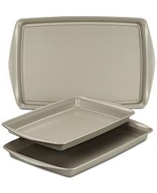 Rachael Ray Nonstick Bakeware 3-Pc. Cookie Pan Set, Silver