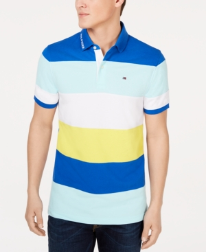 ccd89052 Tommy Hilfiger Men's Wide Striped Polo In Olympian Blue | ModeSens