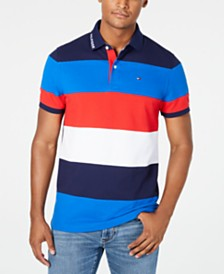 Tommy Hilfiger Men's Wide Striped Polo