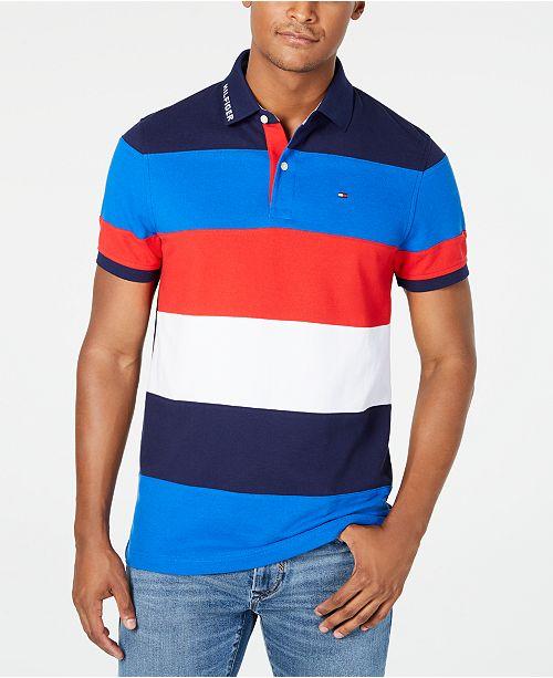 Tommy Hilfiger Men's Wide Striped Polo