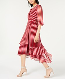 Marella Striped Tiered Maxi Dress