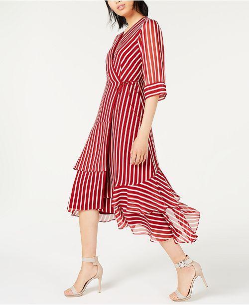 Marella Striped Tiered Maxi Dress