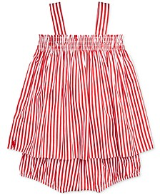 Baby Girls Bengal-Striped Cotton Top & Shorts Set